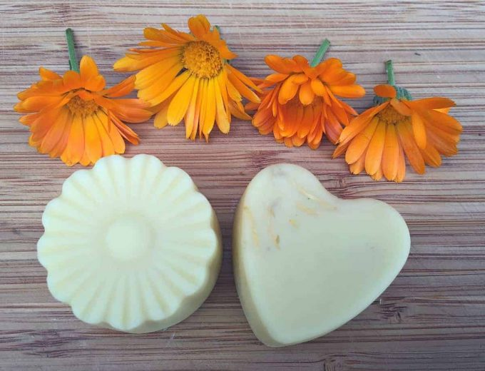 homemade calendula lotion bars