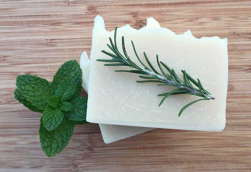 shampoo bars with rosemary and mint
