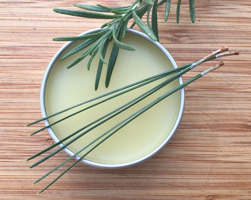conifer balm with rosemary