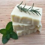 Homemade Rosemary Mint Shampoo Bars