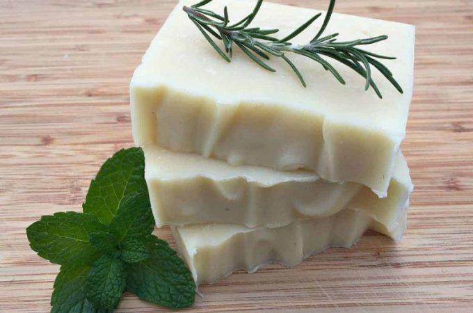 Homemade Rosemary Mint Shampoo Bars