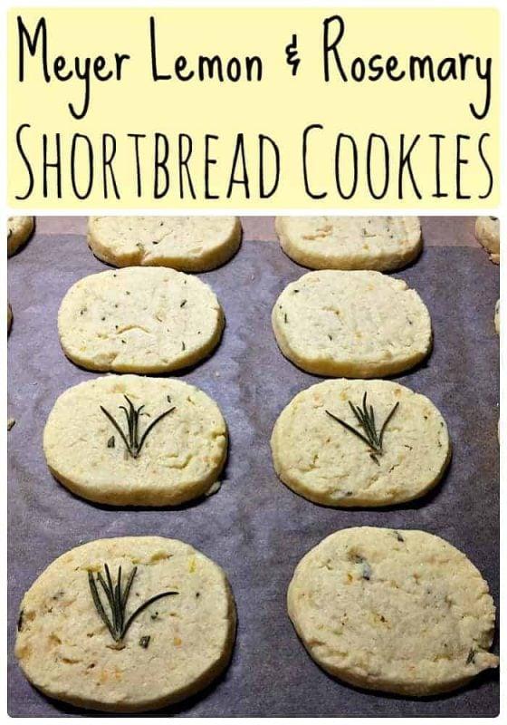 Meyer Lemon and Rosemary Shortbread Cookies