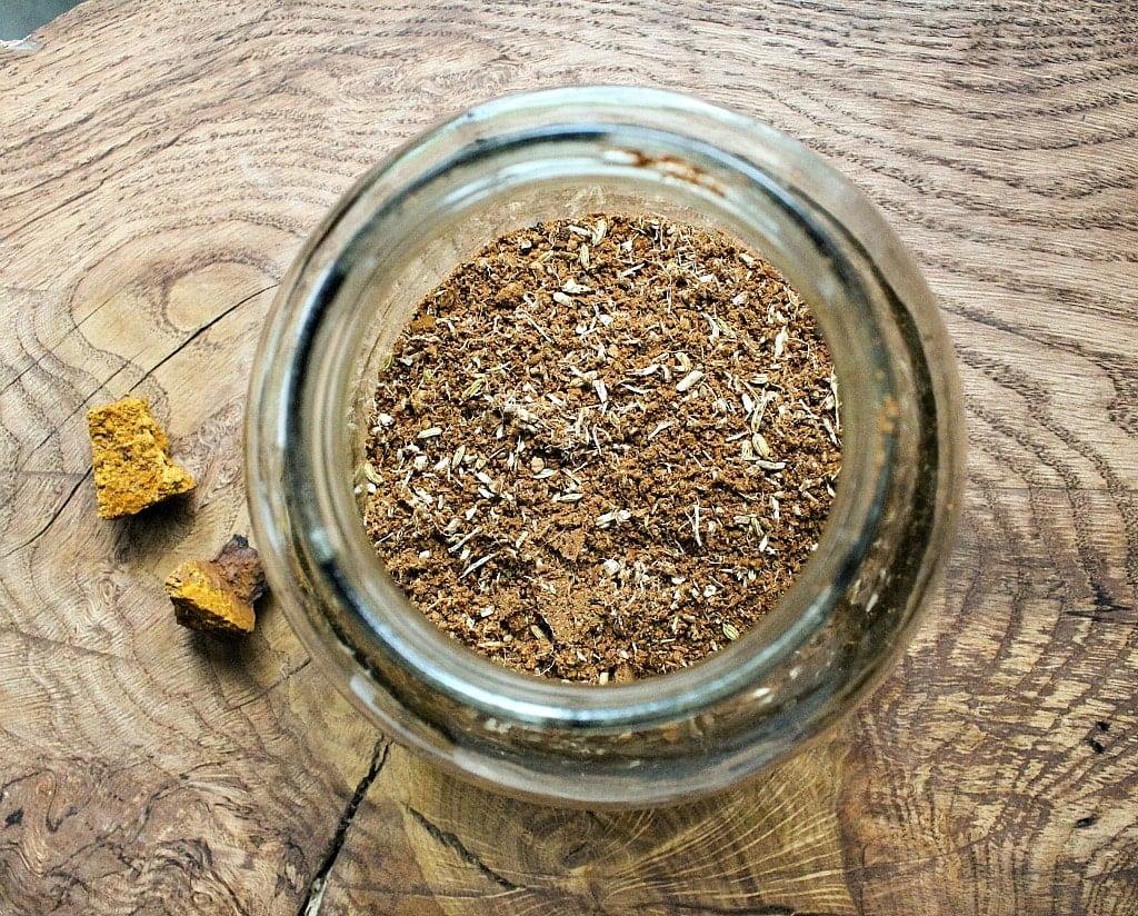 chaga chai blend in a jar