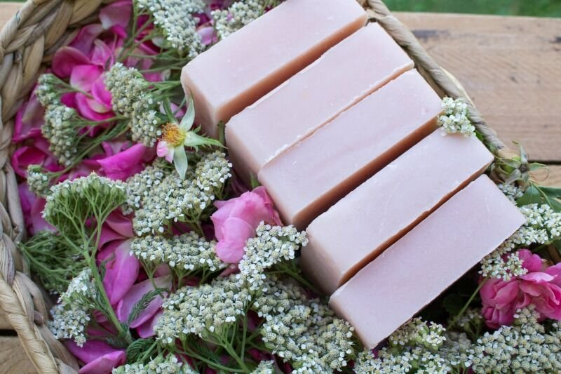 Wild Rose and Yarrow Soap