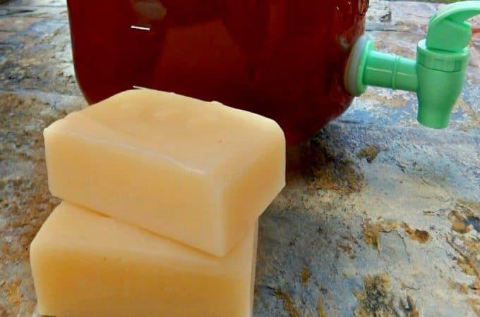 Kombucha Soap: Natural Face Bar Recipe