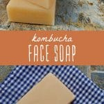 Several bars of homemade kombucha face soap.