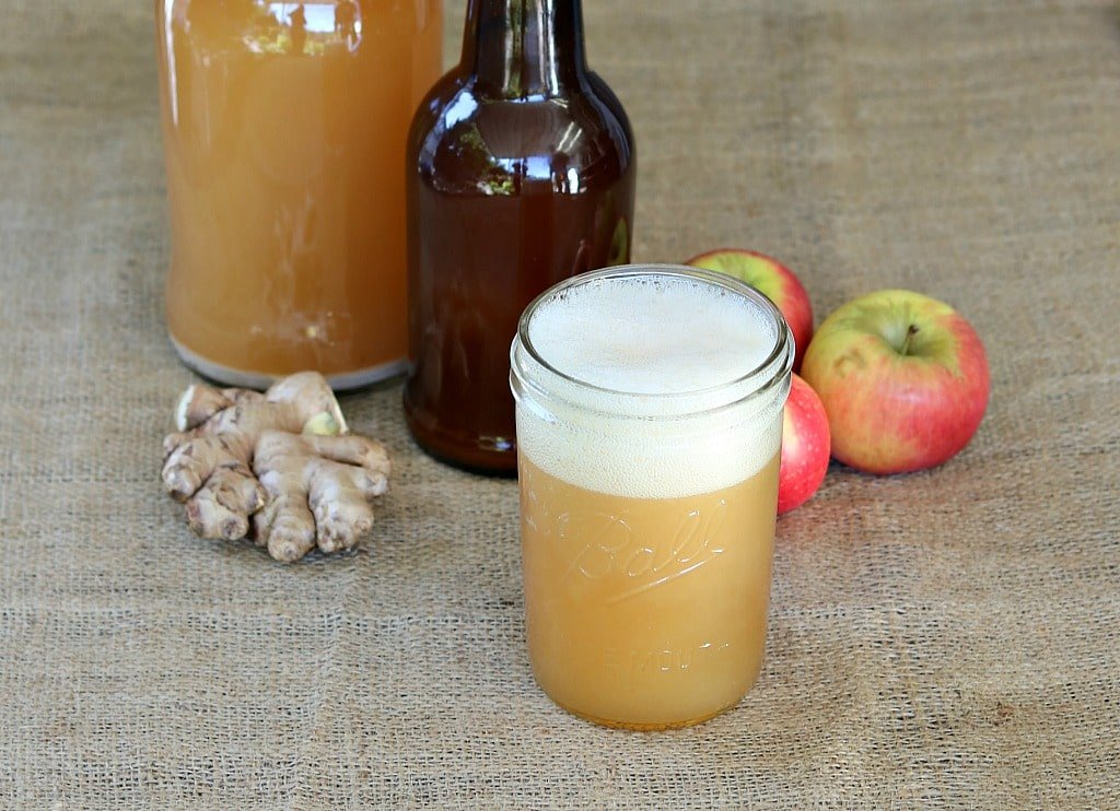 how to make fermented apple juice