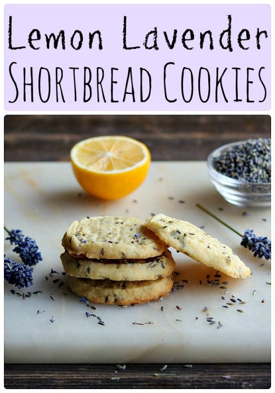 This lemon lavender shortbread cookie recipe is a delicious way to enjoy edible flowers!