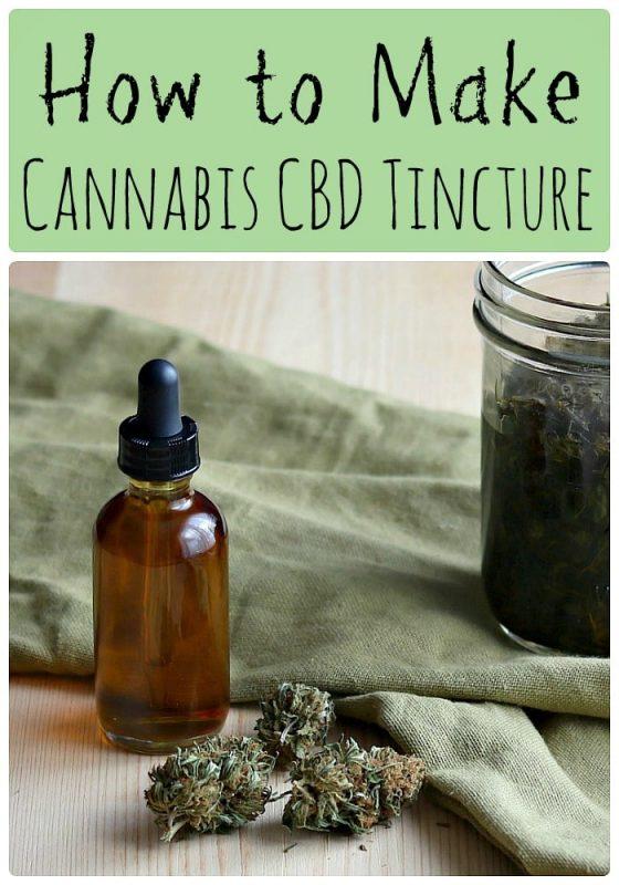 How to make cannabis CBD tincture