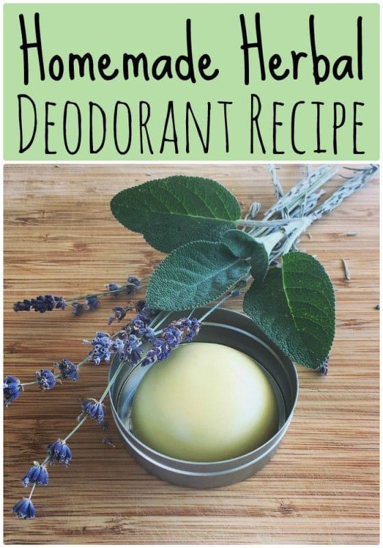 homemade herbal deodorant recipe
