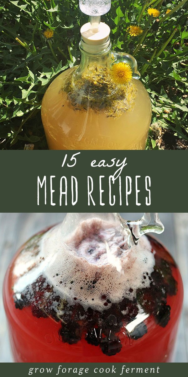 Homemade mead is simple, delicious, and fun to make. Here are 15 easy mead recipes for beginners! Learn how to make your own mead. #mead #meadrecipe #homebrew #homemademead #honeywine