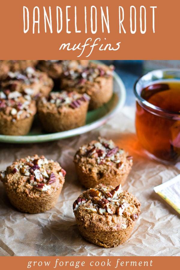 dandelion root muffins