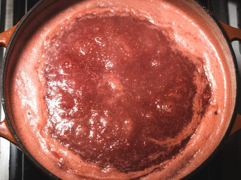 strawberry honey butter cooking