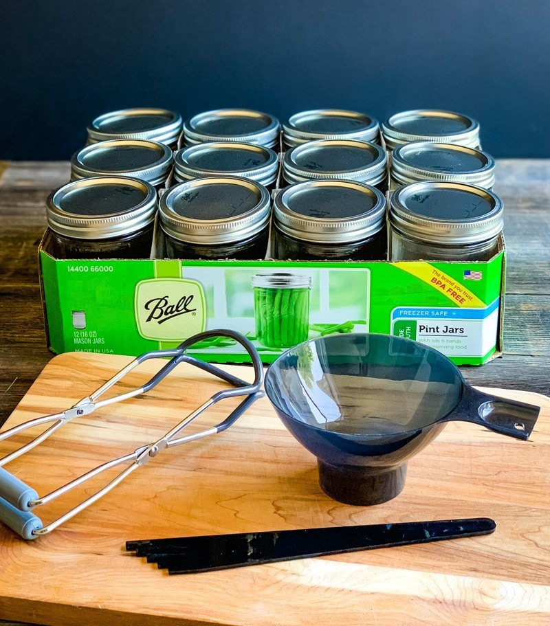 ball preserving utensil set and wide mouth jars