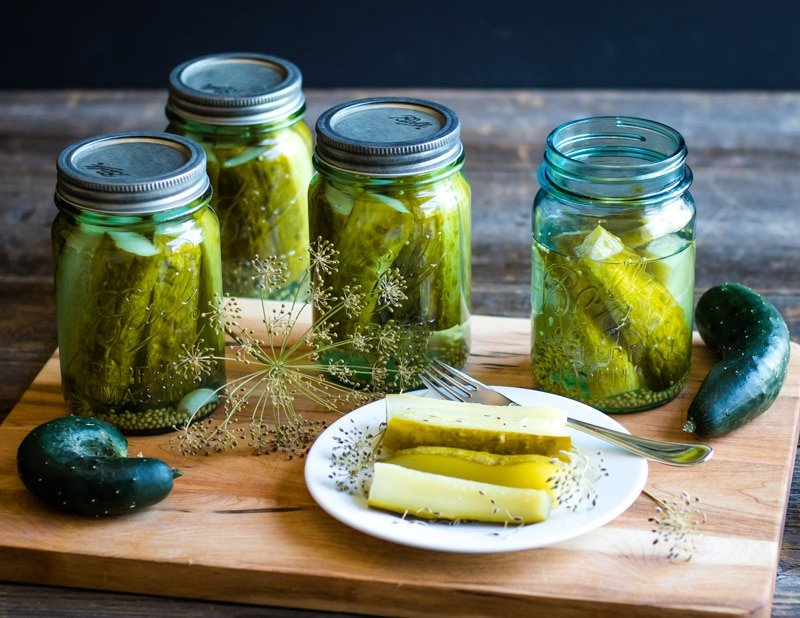 kosher dill pickles in ball canning jars