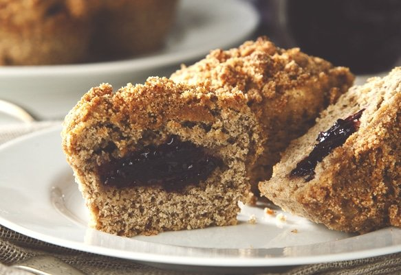 Elderberry Recipes: Banana Muffins with Elderberry Jam