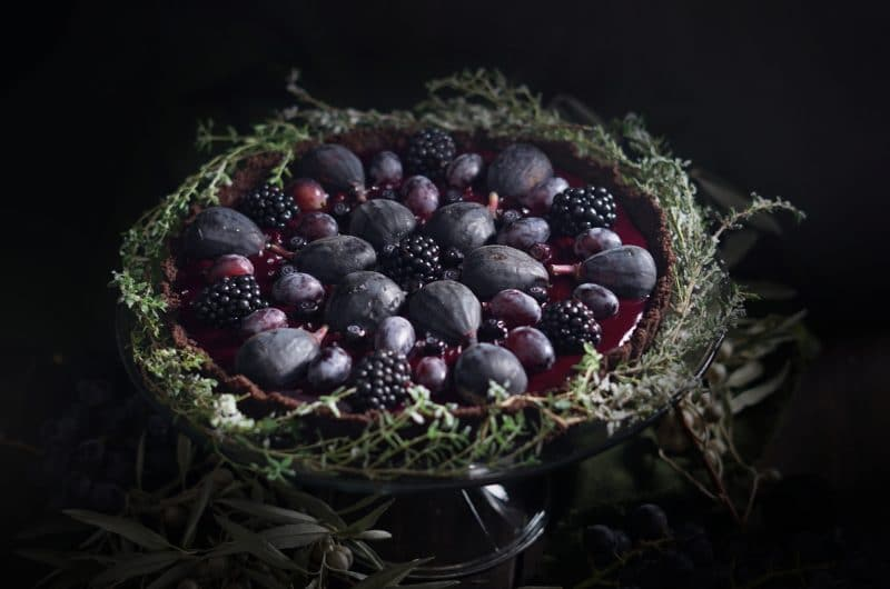 Elderberry Recipes: Elderberry Curd Mandala Tart
