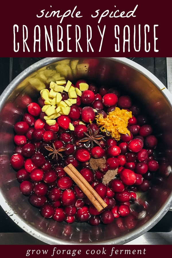 simple spiced cranberry sauce