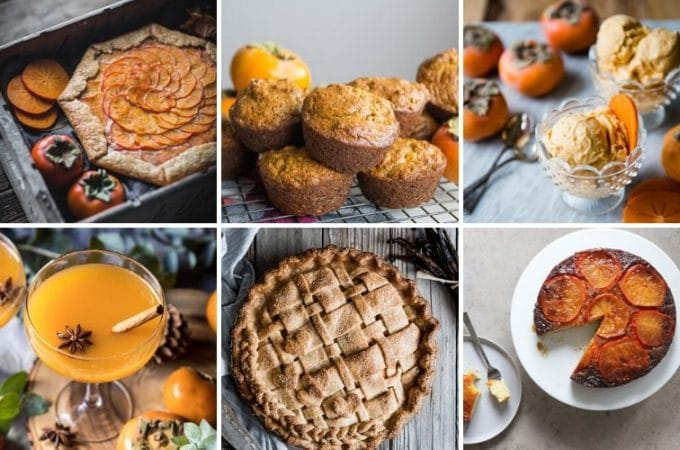 a collection of persimmon recipes
