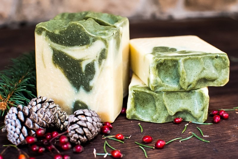 pine needle soap bars