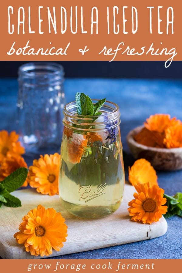 botanical and refreshing calendula iced tea