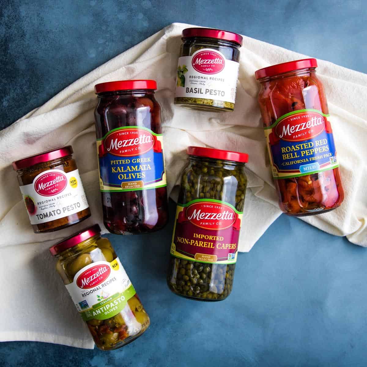 jars of Mezzetta ingredients