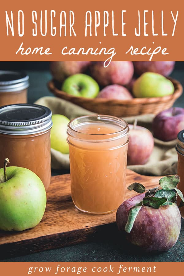 an open jar of apple jelly with apples all around