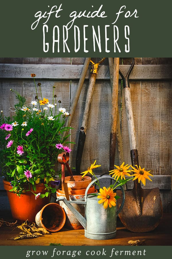 various garden tools and plants for gardeners and permaculturists