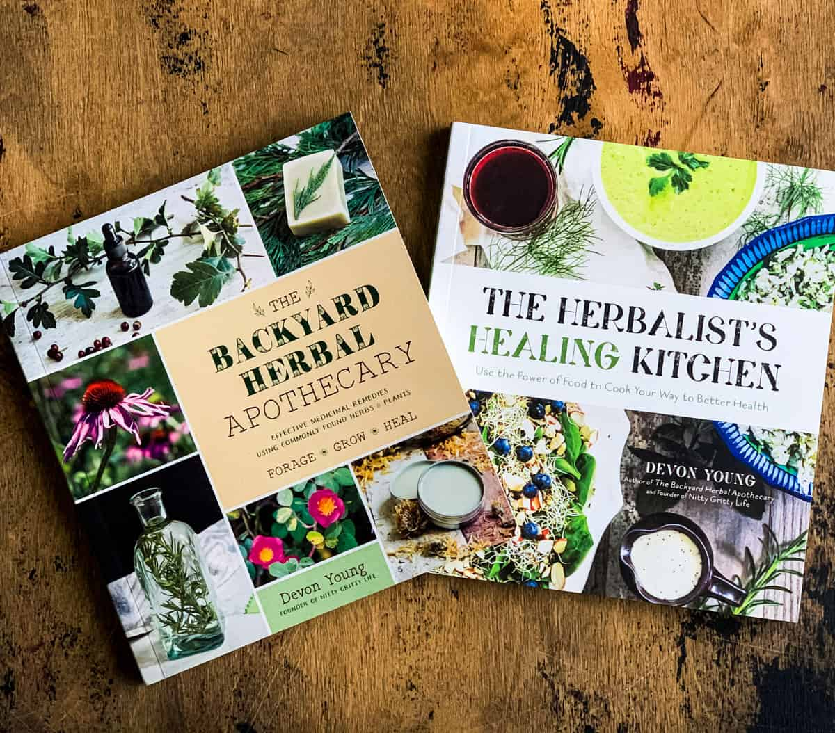 the backyard herbal apothecary and the herbalist's healing kitchen books